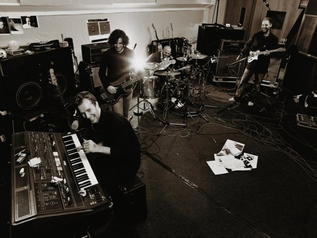 In the studio Coldplay